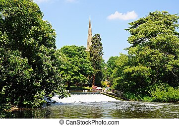 River Avon, Stratford Upon Avon - Weir along the River Avon...