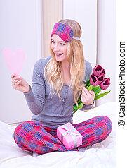 Romantic morning in Valentine day