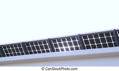 Sun light shine through solar cell roof