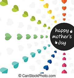 colorful mothers day greeting