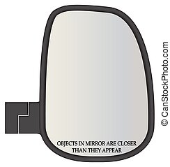 Objects In Truck Side Mirror Closer - A truck or van side...