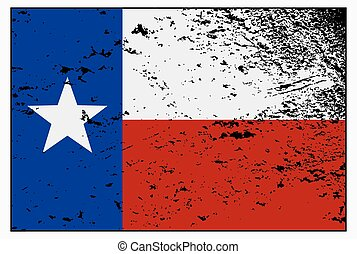 Texas Flag Grunged - A Texas flag with a grunge design...