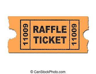 Raffle Ticket - A yellow ticket for a raffle on a white...