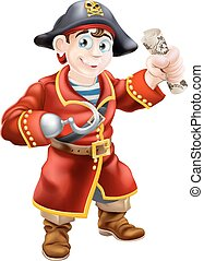 Pirate holding a treasure map