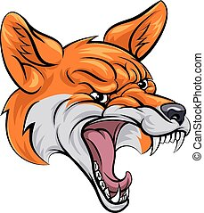 Fox sports mascot - An illustration of a fox animal sports...