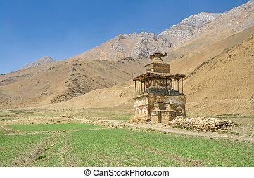 Buddhist shrine - Old shrine in Dolpo region in Nepal