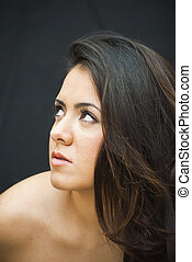 Beautiful Woman - Portrait of Beautiful Young Woman Over...