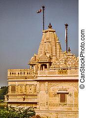 Temple in Thar Desert - Scenic view of temple in Thar Desert