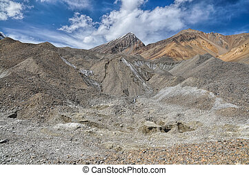 Tajikistan - Scenic rocky valley in Pamir mountains in...