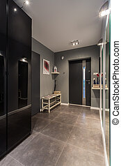 Entrance hall - Big entrance hall with marble floor and...