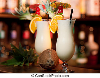 Cocktails Collection - Pina Colada - Ingredients: 2 oz rum 5...