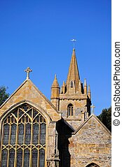 St Lawrence Church, Evesham. - St Lawrence Church window and...