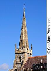 All Saints Church Spire, Evesham. - All Saints church spire,...