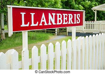 Llanberis, kolej żelazna, znak,