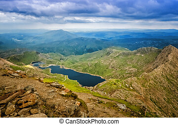 Snowdonia - View from mount snowdon