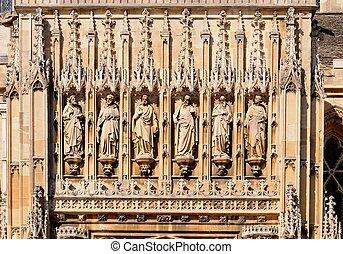 detalle, catedral,  Gloucester