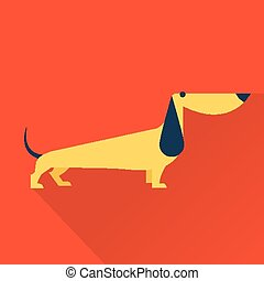 Vector Dog - Cute vector illustration of various dog vintage