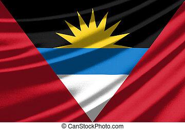 Waving flag of the Antigua and Barbuda