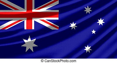 Waving flag of the Australia