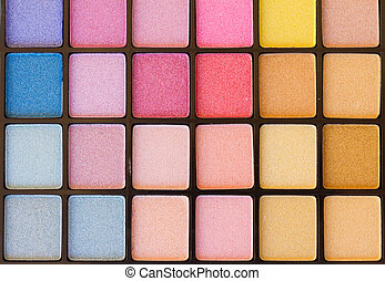 eye shadows palette - background of colorful blue, pink and...
