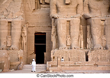 The temple of Abu Simbel in the Nubian Desert in Egypt.