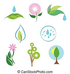 Vector nature icons set