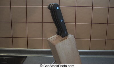 Knife Block, - Cook chose knife