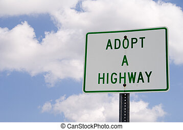 Adopt a Highway - A sign for the Adopt a Highway program.