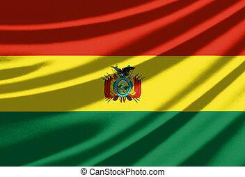 Waving flag of the Bolivia