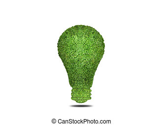 ecology light bulb energy concept - light bulb is covered...