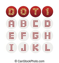 Font dot alphabet design. Vector illustration.