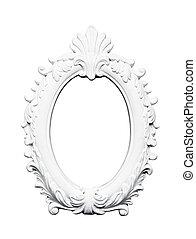 Oval vintage art frame