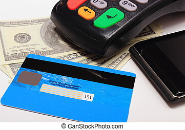 Payment terminal, credit card and mobile phone with NFC...