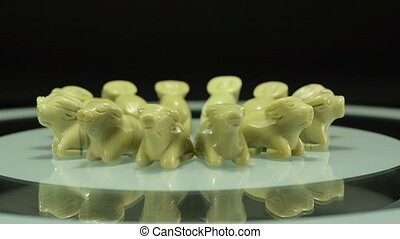 Rotating butter jade oxen - Hand carved butter jade oxen...