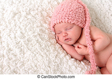 Newborn girl - Newborn baby girl sleeping