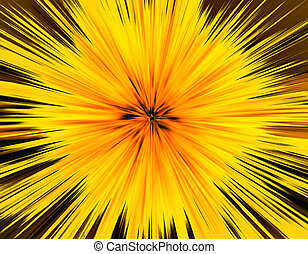 Abstract yellow background, explosion