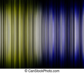 Abstract high tech blue and yellow light