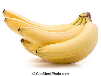Bananas bunch isolated on white background cutout - Bananas...