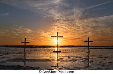 Three Cross Waters Sunset.