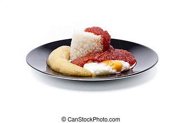 rice cuban with banana