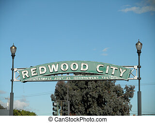 Redwood City - Climate Best By Government Test - Neon Street sig