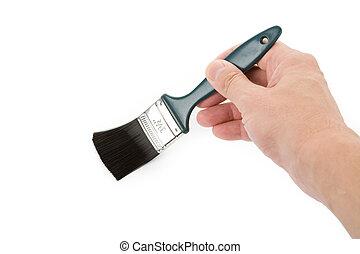 Brushing - Hand holding a brush, Brushing