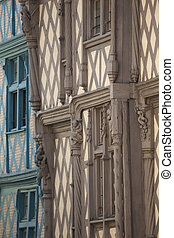 Half timbered houses in Angers, France