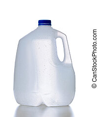 Plastic jug, recyclable and reusable bottle jug container...