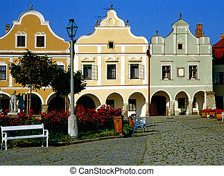 Telc - Main Square in Telc, Czech Republic