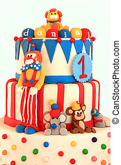 Birthday cake  - Fun circus themed birthday cake.