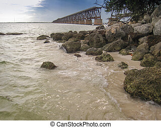 Bridge to Nowhere in Florida Keys - Remnant of an old...