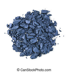 Eyeshadow - Pile of crushed eyeshadow isolated on white...
