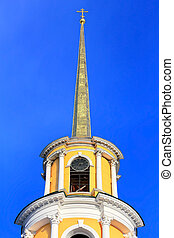 Belfry - View of belfry of the Ryazan Kremlin against the...