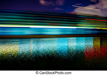 Motion Blur of Container Ship in Savannah